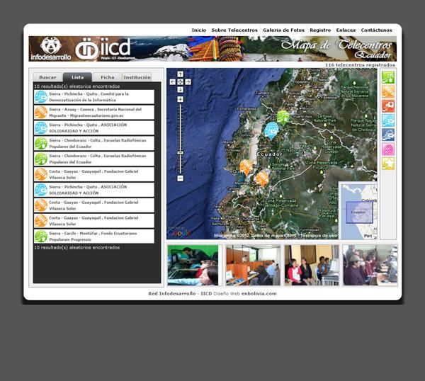 Mapa de Telecentros de Ecuador