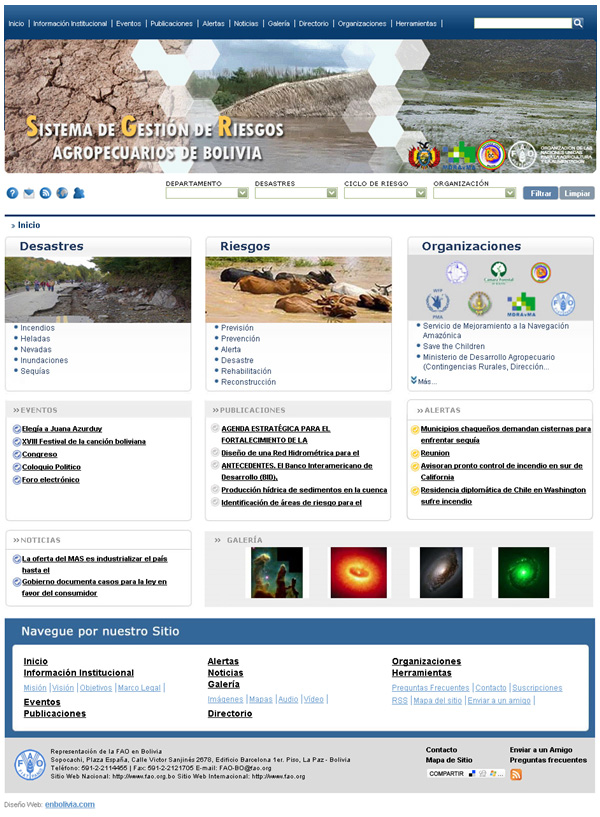 Sistema de Gestión de Riesgos Agropecuarios de Bolivia