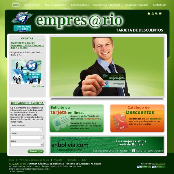 Tarjeta de descuentos Empres@rio